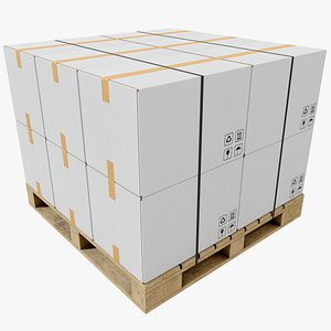 3D Pallet With Boxes 1 4K 8K