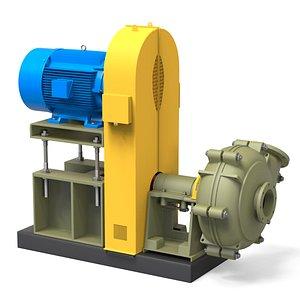 3D model Industrial Pump