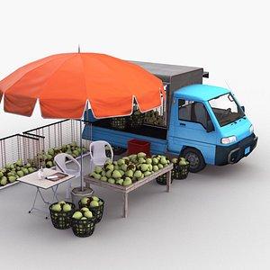 truck coconut 3D model