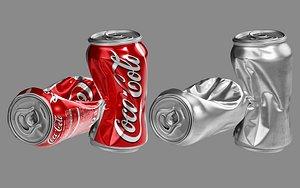 3D crushed soda model