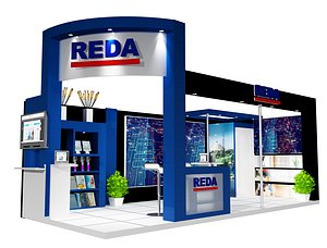 3D Booth Exhibition Stand a459b