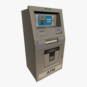 3D ATM - Cash Teller Machine model