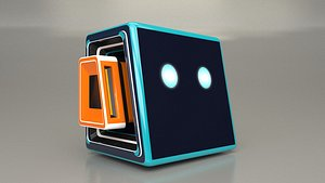 3D Cute Robot Head