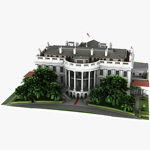 white house architectural 3D