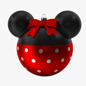 christmas ball minnie mouse 3D
