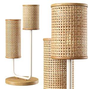 3D Viliam rattan table lamp VR11 model