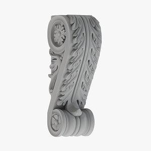 3D Scroll Corbel 01 - 3D Printable