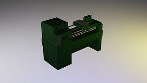 lathe industrial 3D model