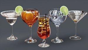 Drink Set - Cocktail Glasses model
