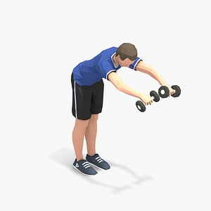 animations exercise man 3D model