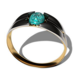 3D model fashionable cabochon ring