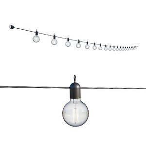 3D street garland edison lamps