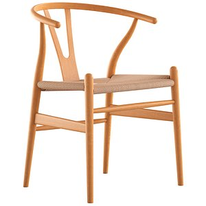 3D Cult Furniture Wish Wooden Dining Chair model