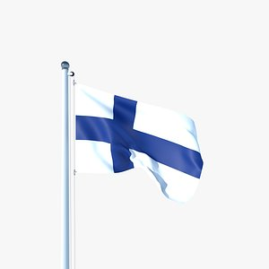 Animated Flag of Finland 3D model