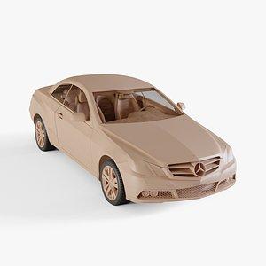3D model 2011 Mercedes-Benz E-Class Cabriolet
