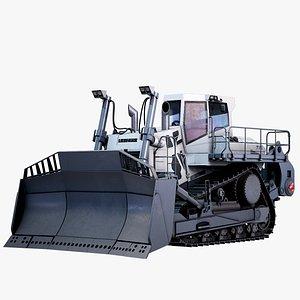 3D Mining Bulldozer Liebherr PR 776 PBR