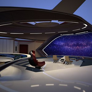 spaceship space ship 3D