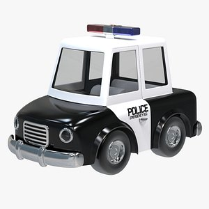 3D Police Cartoon Car