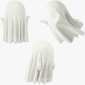 3D Funny Small Ghosts Collection V2