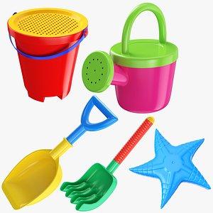 3D sand beach toy