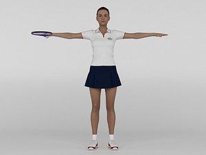 3D model Female Tennis Player
