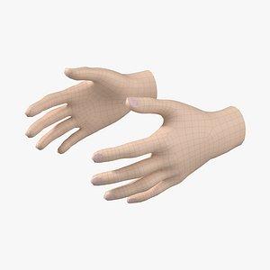 Female Hand Base Mesh 03 3D model