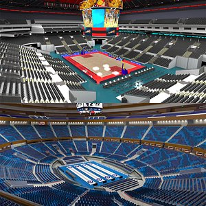 Basketball Arena and Curling Arena 3D model