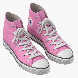 3D model Basketball Leather Shoes Pink