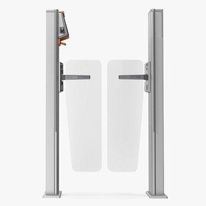 3D Axess AX500 Smart Gate NG Flap Glass model