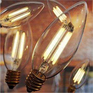 Vintage Light Bulb 3 3D model