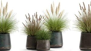 3D ornamental pots model