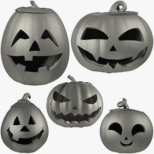 3D Halloween Pumpkins Family Collection Mesh V1