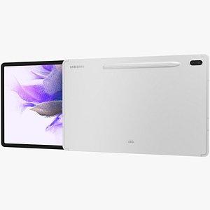 Samsung Galaxy Tab S7 FE Silver 3D model