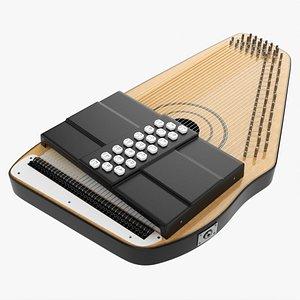 3D Autoharp music instrument