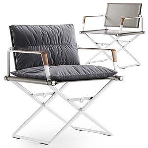 3D model Dedon SEAX lounge chair