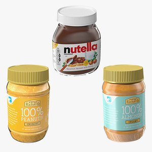 Nut Butter Collection 3D