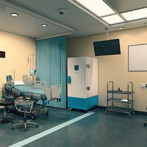 vaccination room 3D model