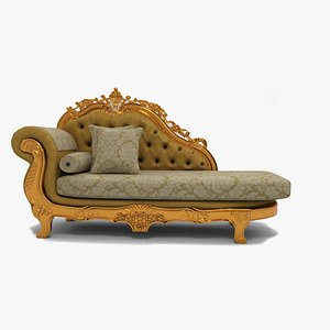 3D Classic Sofa one arm model