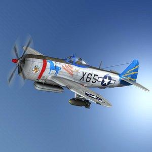 Republic P-47M Thunderbolt - The Trojan Warhorse 3D model