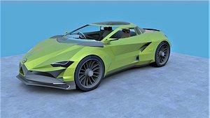 auto automobile car 3D model