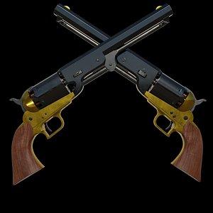 3D colt 1851 navy revolver