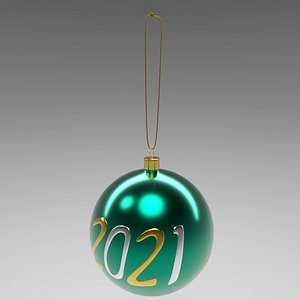christmas ball green 3D