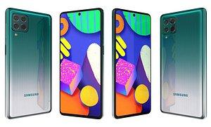 Samsung Galaxy F62 Laser Green 3D