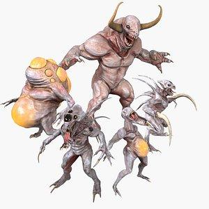 Sci-fi Alien MonsterCreatureAnimalBeast CollectionwithZbrushfiles 3D model