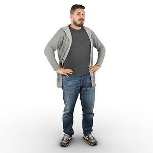 huge guy standing 3D model