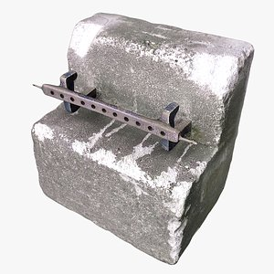 Concrete Block 01 model