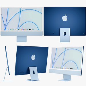 3D Apple iMac 24-inch 2021 model
