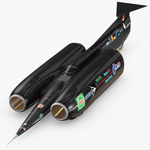 3D Thrust SCC Land speed record jet car