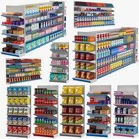 Supermarket Shelves Collection 02