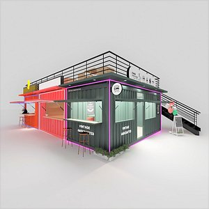 3D Fast Food Container Restaurant